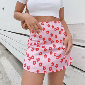 Pink Floral Skirt - yourbabezboutique