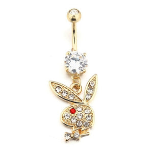 Playboy Baddie Belly Button Ring