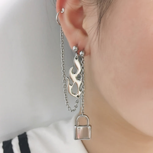 Flame & Chain Earrings