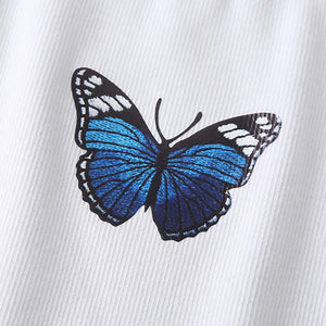Butterfly High Neck Tank