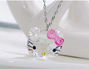 Crystal Kitty Necklace