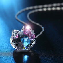 Load image into Gallery viewer, Crystal Kitty Necklace
