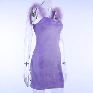 Fluffy Lavender Dress