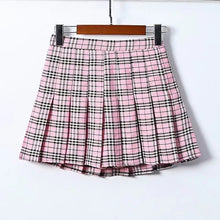 Load image into Gallery viewer, Y2K Plaid Pleated Skirt