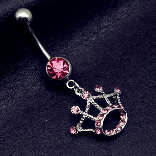 Princess Tiara Belly Button Ring
