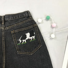 Load image into Gallery viewer, Cow Embroidery Jeans