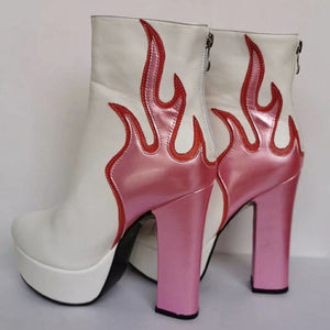 Pink Flame Booties