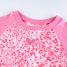 Load image into Gallery viewer, Pink Leopard Heart Top