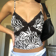 Load image into Gallery viewer, Zebra Lace Tank
