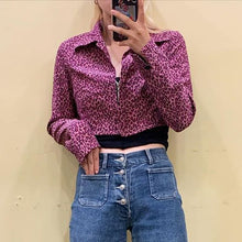 Load image into Gallery viewer, Pink Leopard Cropped Jacket