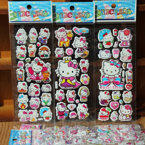 Hello Kitty Bubble Stickers (10 sheets)