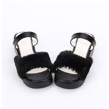 Load image into Gallery viewer, Lindsay Furry Sandals