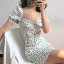 Load image into Gallery viewer, Floral Ruched Mini Dress