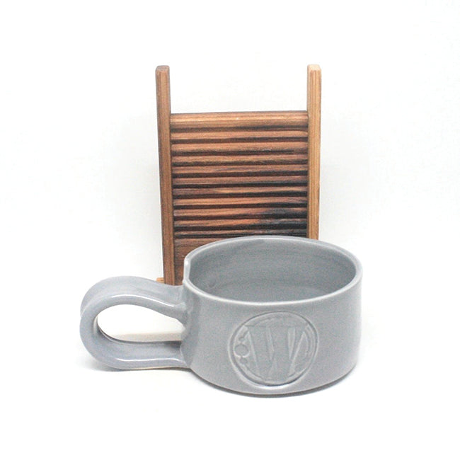 Washboard Shaving Mug