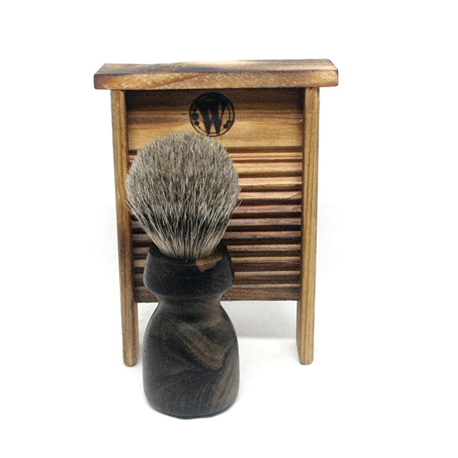 Washboard Shaving Brush Ziricote & Silvertip Badger
