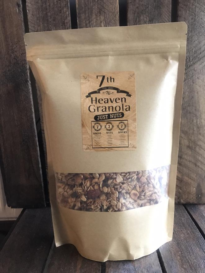 7th Heaven Granola 750g - ** JUST NUTS ** - BakeNTukka
