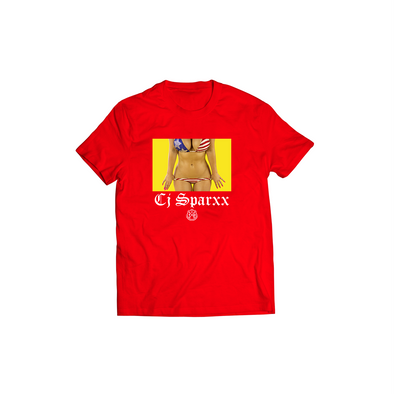 ITD X CJ SPARXX RED USA BIKINI TEE
