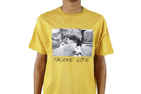 SKATE LIFE SCORPION TEE MUSTARD YELLOW