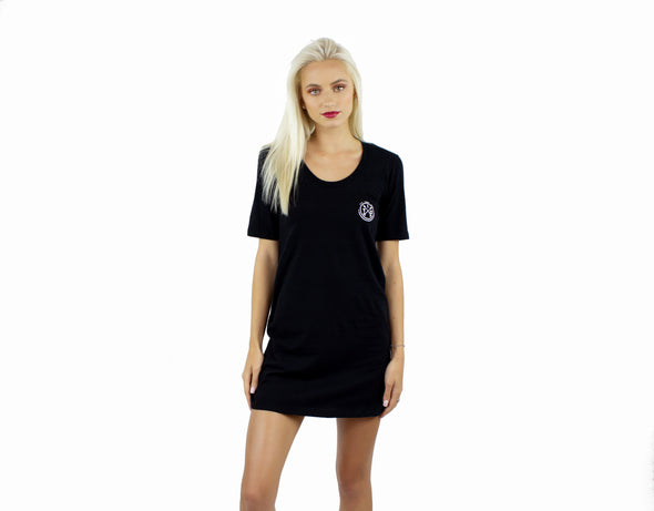 Black Jersey Tee Shirt Dress/Cover up