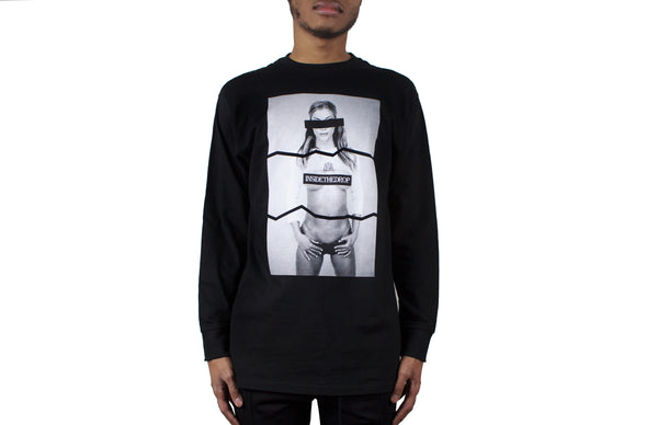 INSIDETHEDROP PHOTO TEE- LONG SLEEVE -BLACK