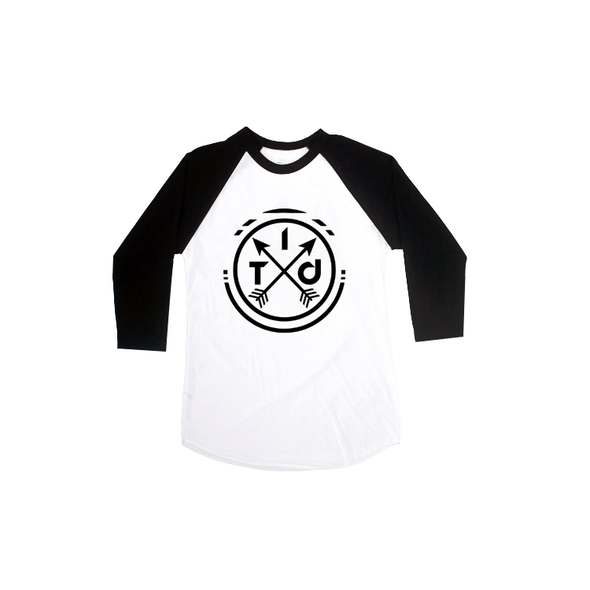 White/Black 3/4 Raglan