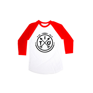 White/Red 3/4 Raglan