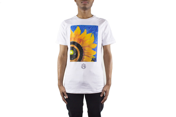 UNISEX SUNFLOWER WHITE TEE