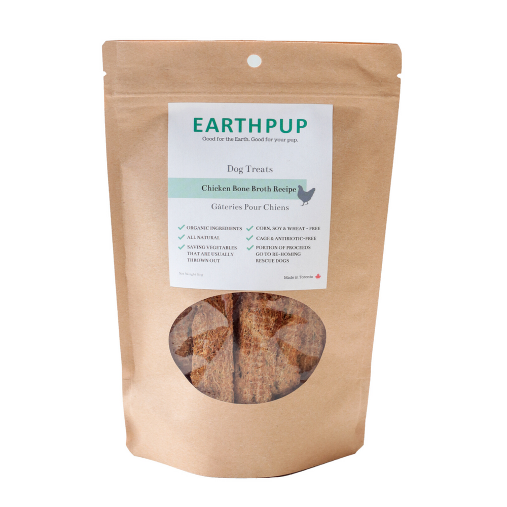 EarthPup Organic Dog Treats, Chicken Bone Recipe - 80 g
