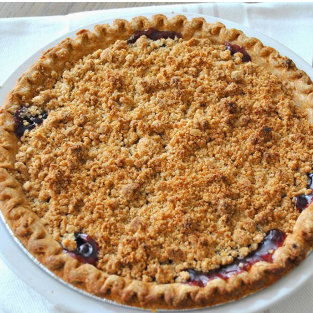 Apple Mixed Berry Crumble Pie