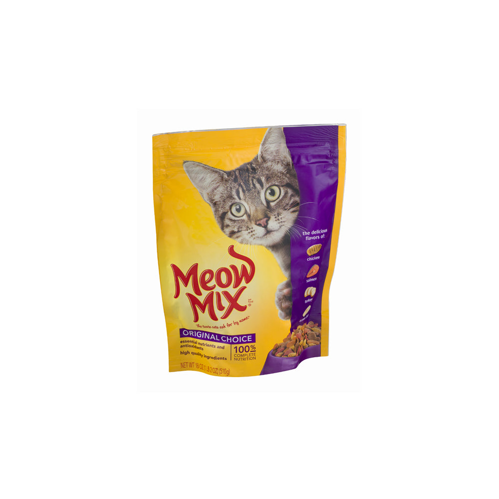 Meow Mix Cat Food, Chicken/Salmon/Turkey/Ocean Fish - 500 g