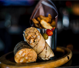 Chipotle Chicken Wrap with Pub Chips