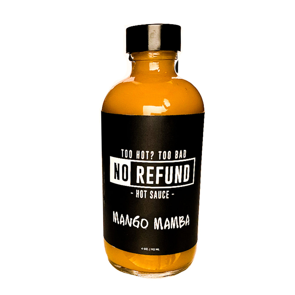 No Refund Hot Sauce, Mango Mamba - 4 oz
