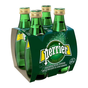 Perrier Carbonated Natural Spring Water - 4 x 330ml