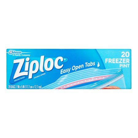 Ziploc 20 Freezer Bags - Small