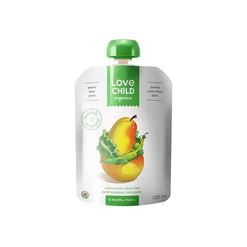 Love Child Organics Puree Superblends,  Kale/Peas/Pears - 128 mL