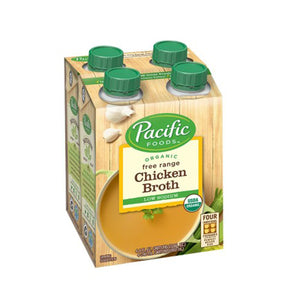 Pacific Natural Foods Organic Free Range Chicken Broth - 4 x 236 mL