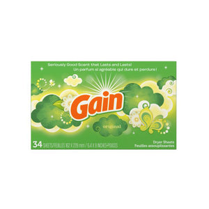Gain, Dryer Sheets - 34 sheets