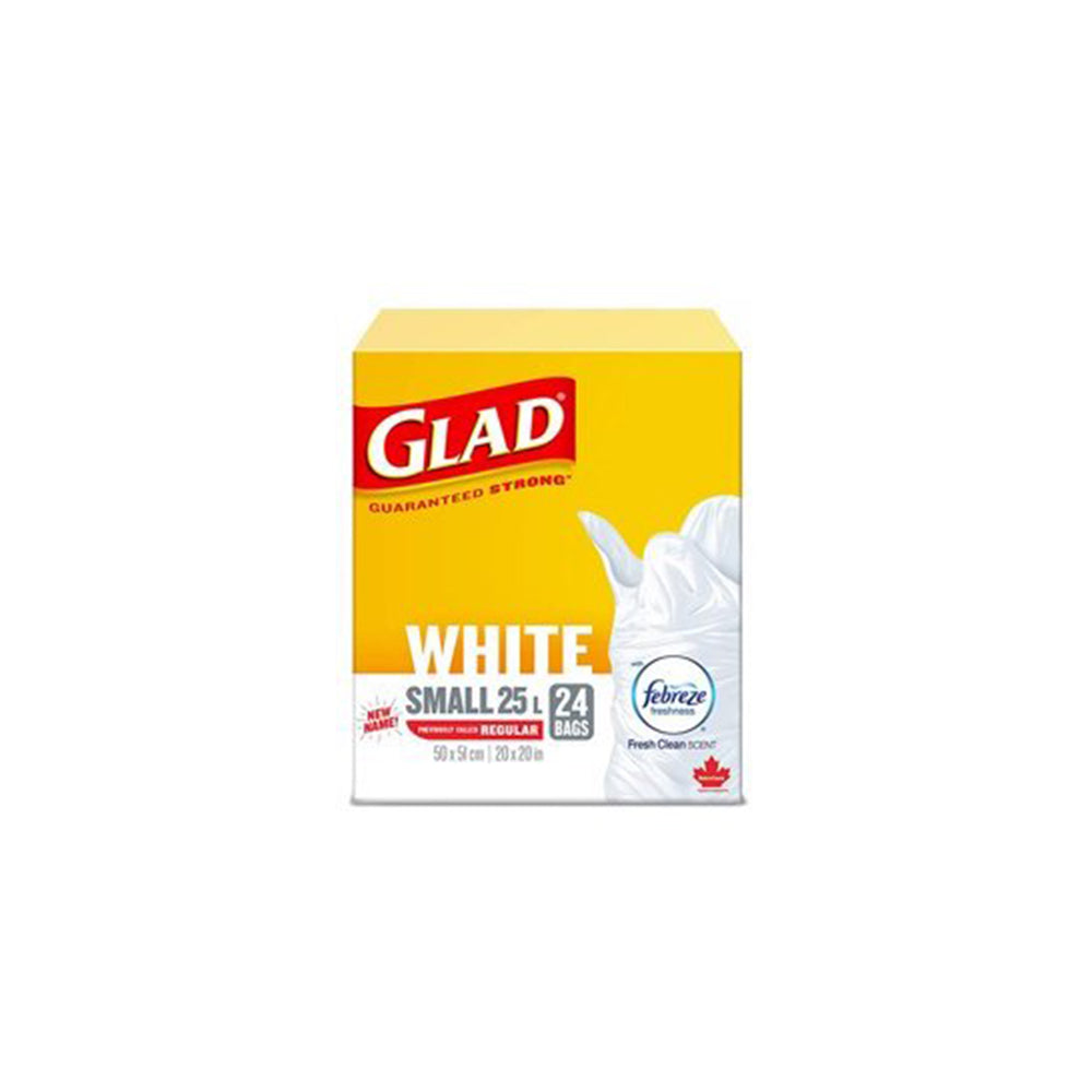 Glad Small White 25 L - 24 bags