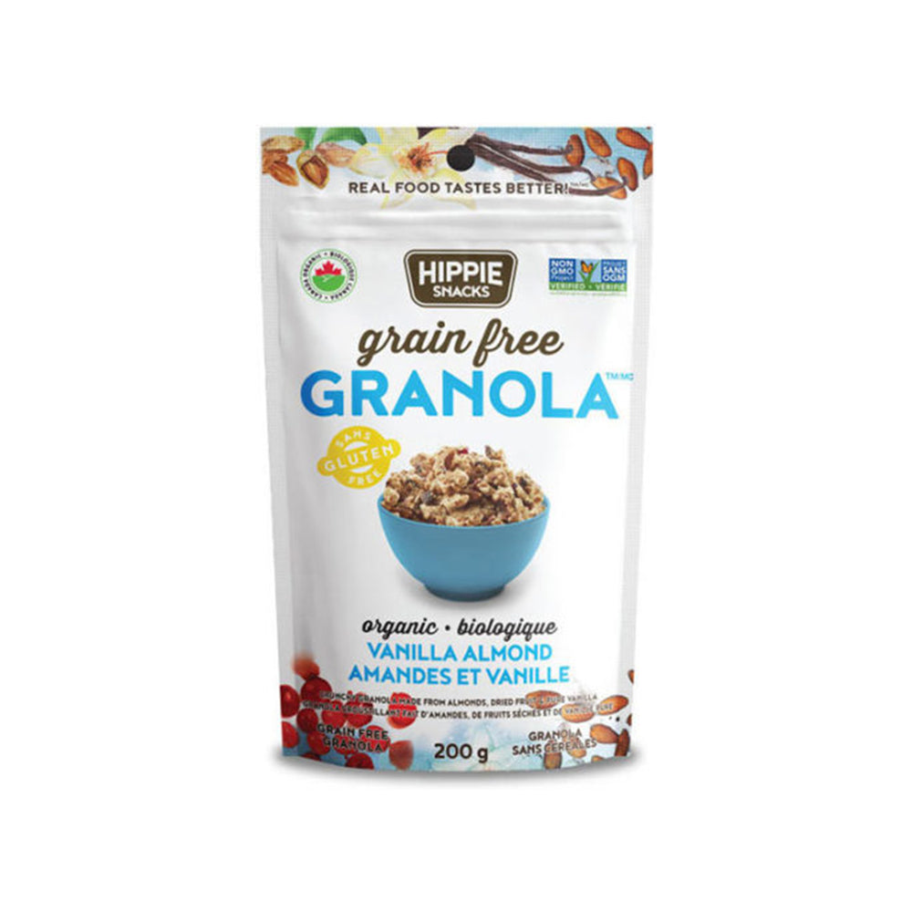 Load image into Gallery viewer, Hippie Snacks Grain Free Granola, Organic Vanilla Almond - 200g