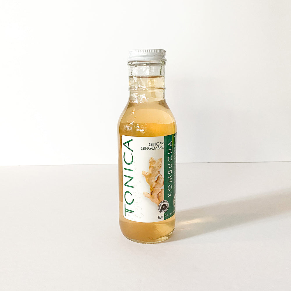 Load image into Gallery viewer, Village Juicery Ginger Kombucha - 355 mL
