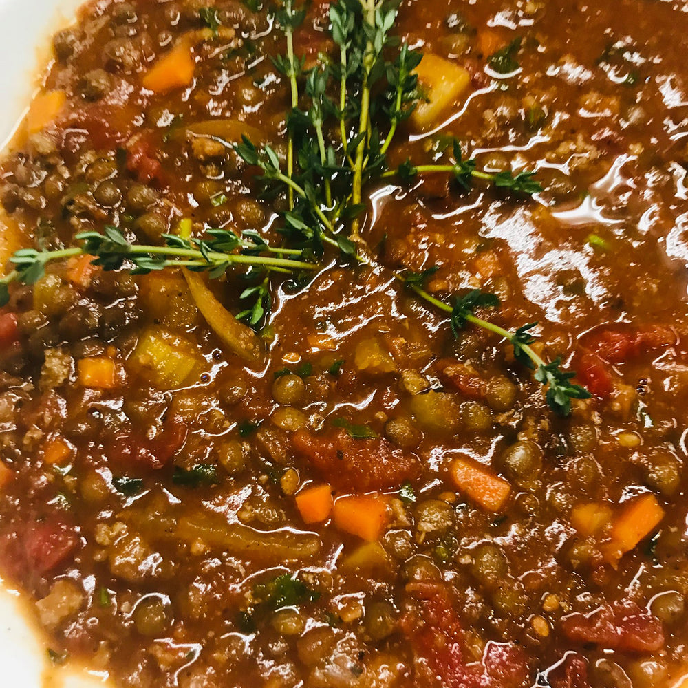 Load image into Gallery viewer, Chef Couillard's Andalusian / Moroccan Dupuy Lentil soup