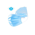 3 Ply Layered Disposable Face Masks - 50 pack