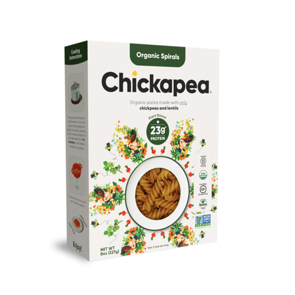Load image into Gallery viewer, Chickapea Organic Spirals - 227g