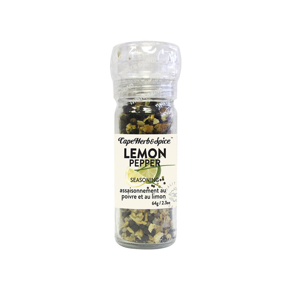 Load image into Gallery viewer, Cape Herb & Spice, Lemon Pepper Seasoning Grinder - 64g