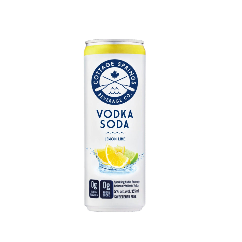 Cottage Springs Lemon Lime, Vodka Soda - 355 mL