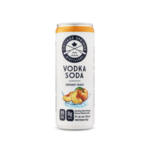 Load image into Gallery viewer, Cottage Springs Ontario Peach, Vodka Soda - 355mL