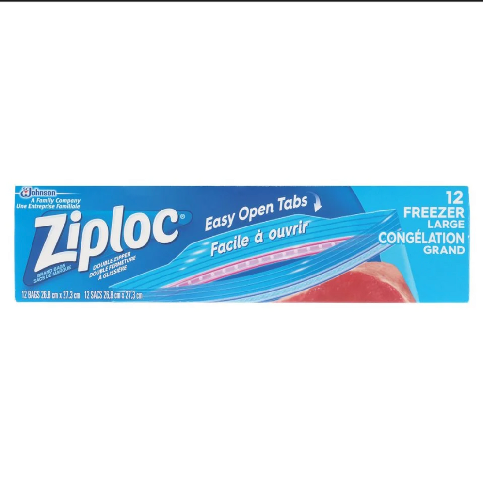 Ziploc 12 Freezer Bags - Large