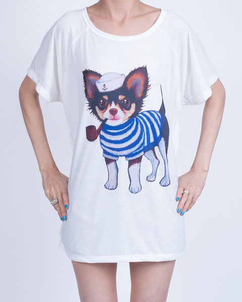Sailor Dog Oversized T-Shirt