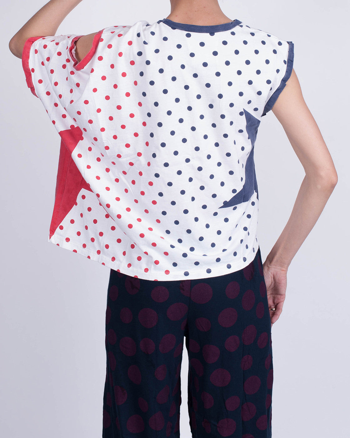 Dotty Star White Shirt