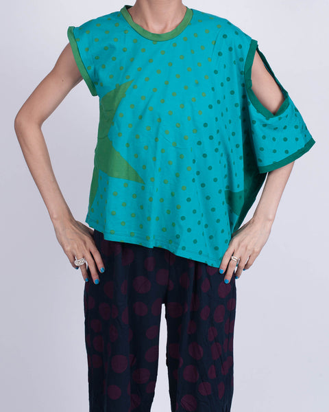 Dotty Star Teal Shirt